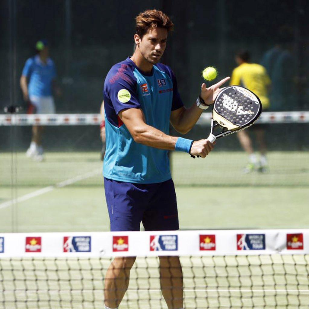 Christian Fuster, en el A Coruña Open