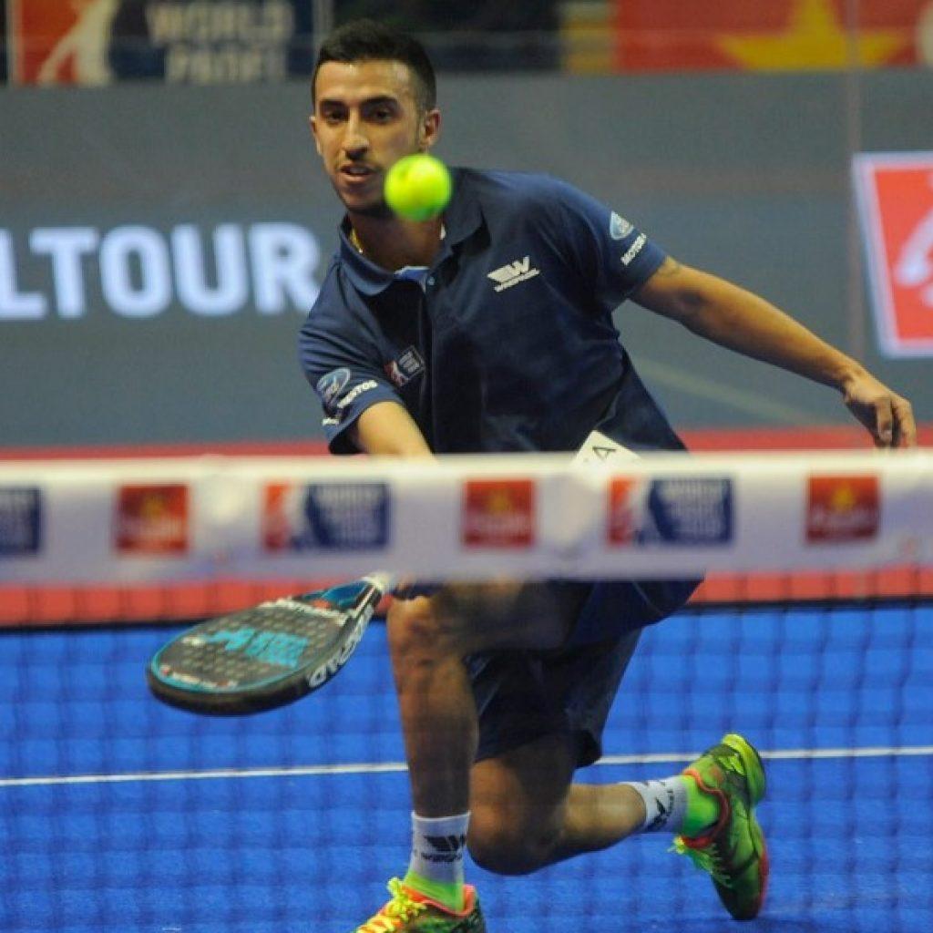 Álvaro Cepero, en el Santander Open, con su Wingpadel Air Attack
